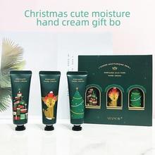 Рождественский подарок, набор кремов для рук, долговечный увлажняющий питательный крем для осветления кожи, тонкие линии, крем для ухода за руками, набор кремов для рук
