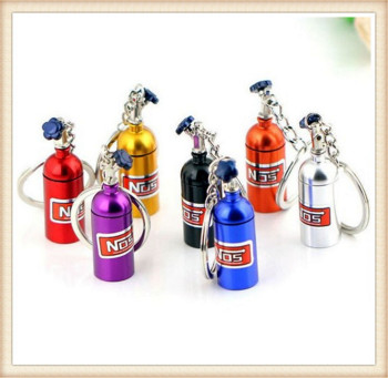 car Oxide Bottle Keychain Keyring Pill Box for Subaru Forester Ascent XV WRX VIZIV Outback Legacy Impreza Crosstrek image