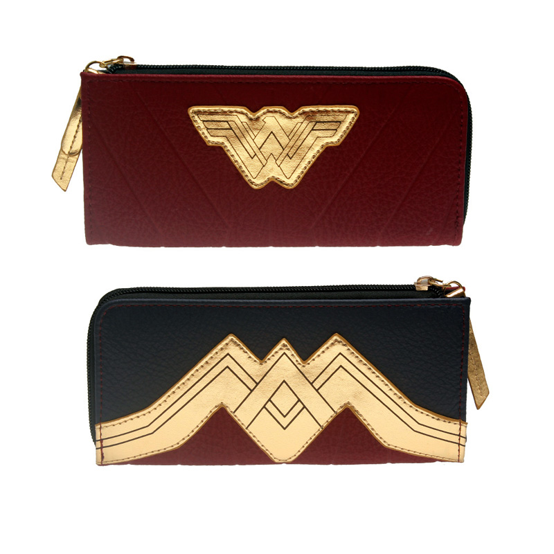 Wonder Woman Wallet Large Capacity Wallets Female Purse Lady Purses Women Card Holder DFT5515