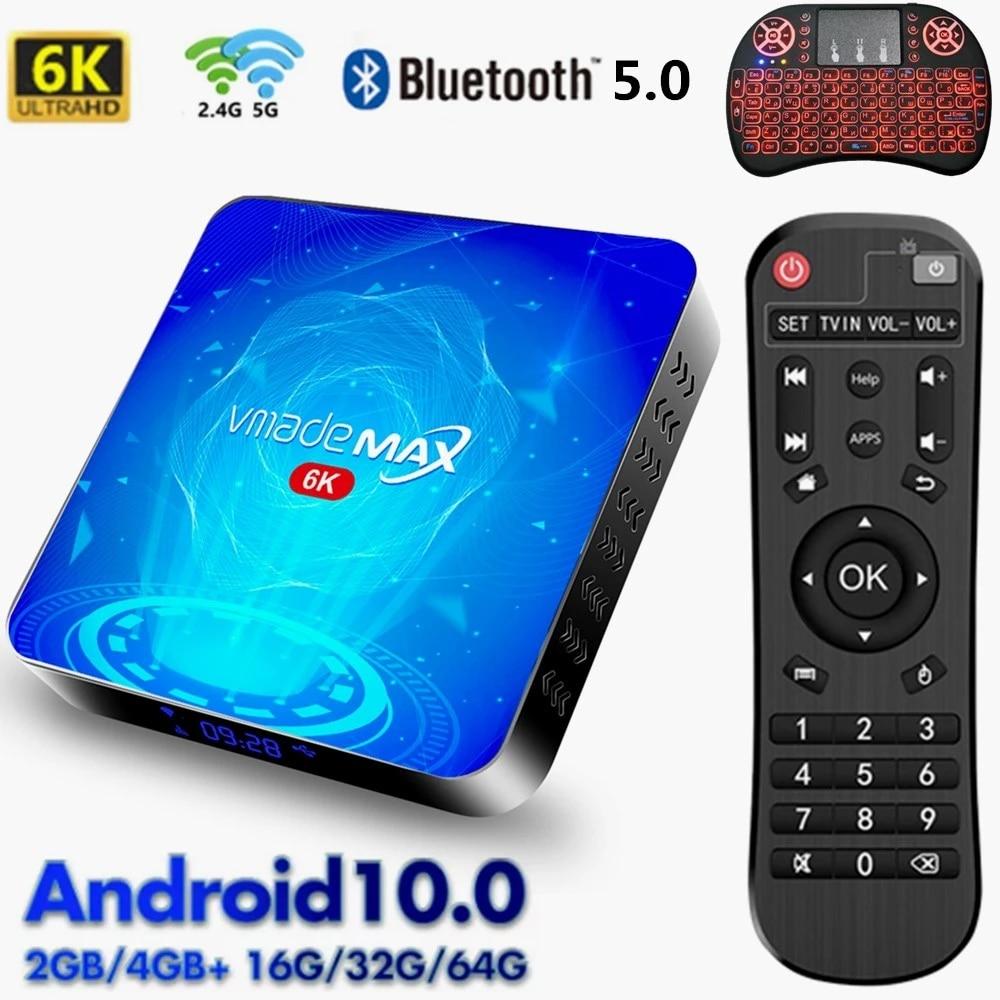 Android 10 Smart TV Box 2.4G&5G WiFi Set Top Box 16GB 32GB 64GB Allwinner  H616 Quad Core HD 6K 3D Video TV Receiver Media Player|Set-top Boxes