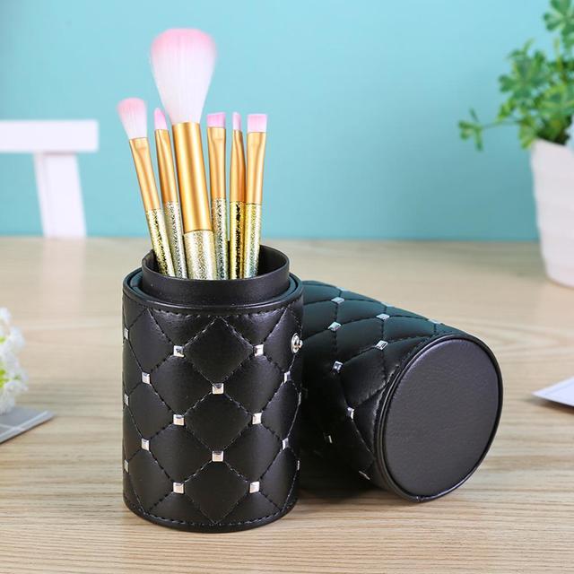 Fashion Makeup Brushes Holder Case PU Leather Travel Pen Holder Storage Cosmetic Brush Bag Brushes Organizer Make Up Tools 4