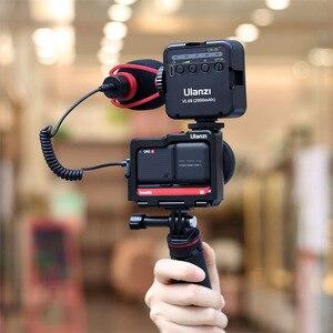 Image 5 - Ulanzi Insta360 One R Kim Loại Vlog Lồng Ốp Lưng Kéo Dài Giày Lạnh Cho Đèn LED Micro