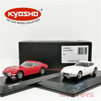 Kyosho 164 Toyota 2000GT Rood/Wit Diecast Model Auto