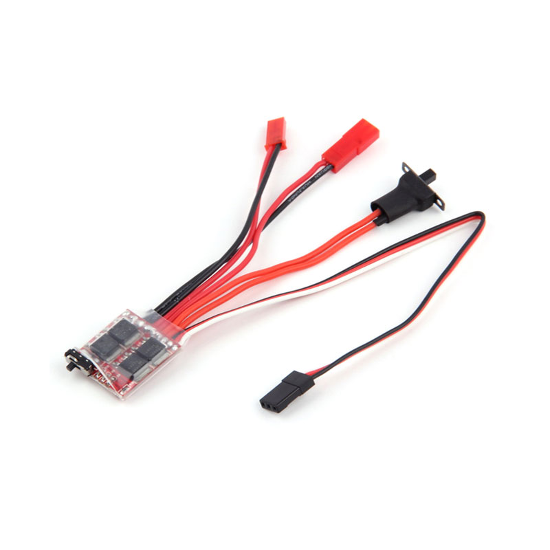 20A/<font><b>30A</b></font> <font><b>Brushed</b></font> Mini <font><b>ESC</b></font> Electric Speed Contrl With Brake Switch For WPL C14 JJRC Q64 RC Car Boat Parts image