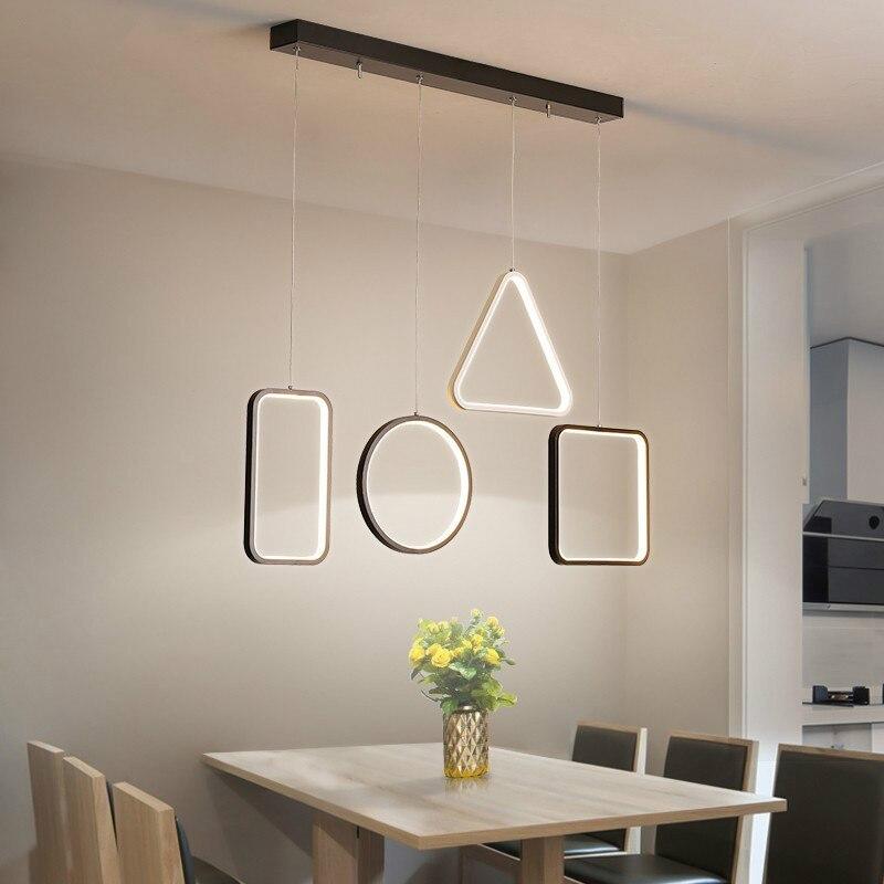 Modern LED Pendant Light For Living Room Geometrical Shape Pendant Lamp Nordic Kitchen Hanging Lamp For Home Deco Light Fixtures
