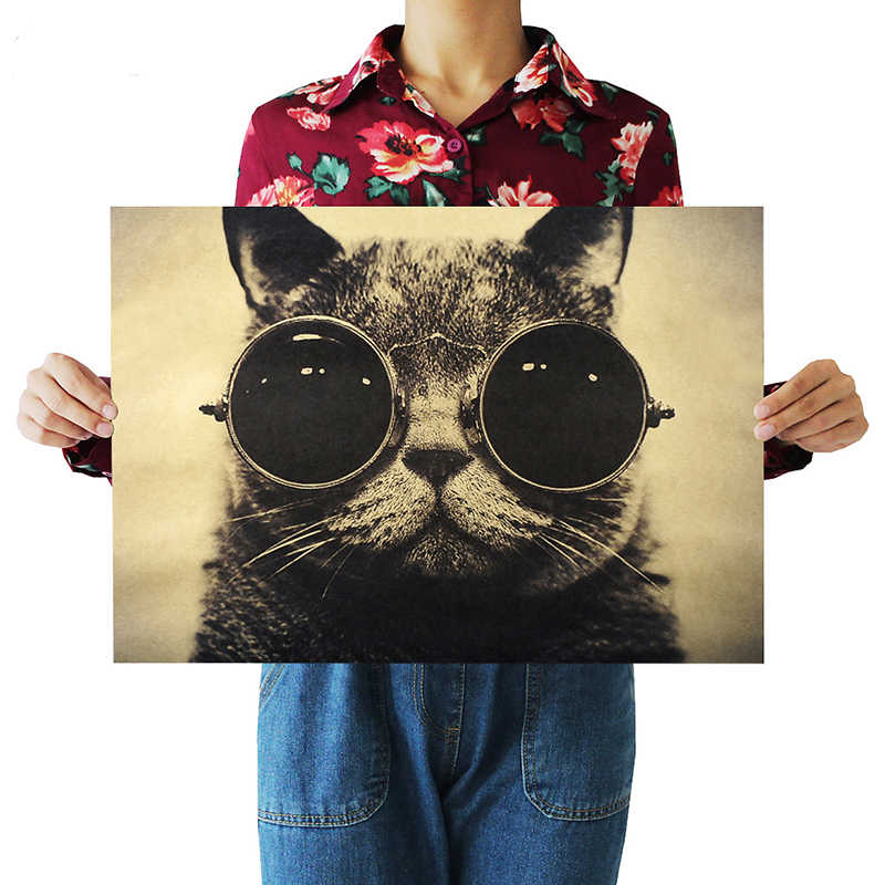 Bien Guapo Gato Gafas De Sol Rock Animal Kraft Papel Afiche De Cafe Poster Retro Arte Decorativo Cuadro Adhesivo Para Pared Aliexpress Adrian uribe, ariel miramontes, carmen salinas and others. es aliexpress com