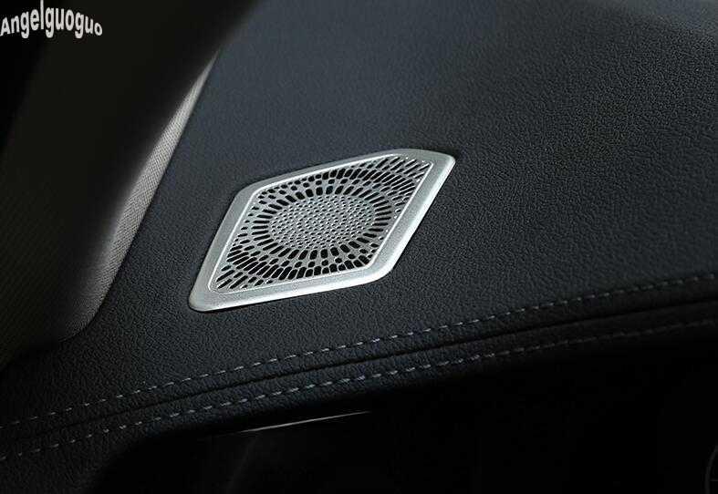 Métal pour BMW série 3 G20 G28 2019-21 accessoires voiture tableau de bord klaxon A colonne haut-parleur décoration couverture garniture voiture-style LHD