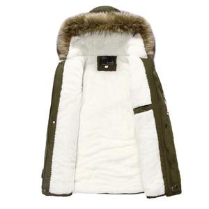 Image 2 - Parka erkekler palto kış ceket erkekler Slim kalınlaşmak kürk kapşonlu dış giyim erkek sıcak tutan kaban rahat katı marka giyim artı boyutu S 4XL