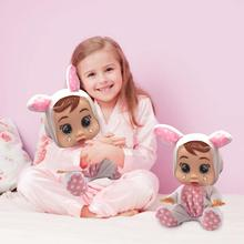 Silicone Baby Doll Reborn 10 inch Cry Baby Doll Toys Magic Tears With Music Alive Lifelike Kids Birthday Gifts