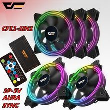 Aigo Darkflash RGB PC Case Fan 120 Mm CPU Case Komputer Kipas Pendingin Tenang 3 P-5 V Aura sync Pendingin Menyesuaikan Kecepatan LED Kipas PC(China)