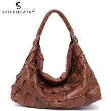 Shoulder-Bags Women Handbag Crossbody-Bags Female High-Quality Soft for SC Patchwork