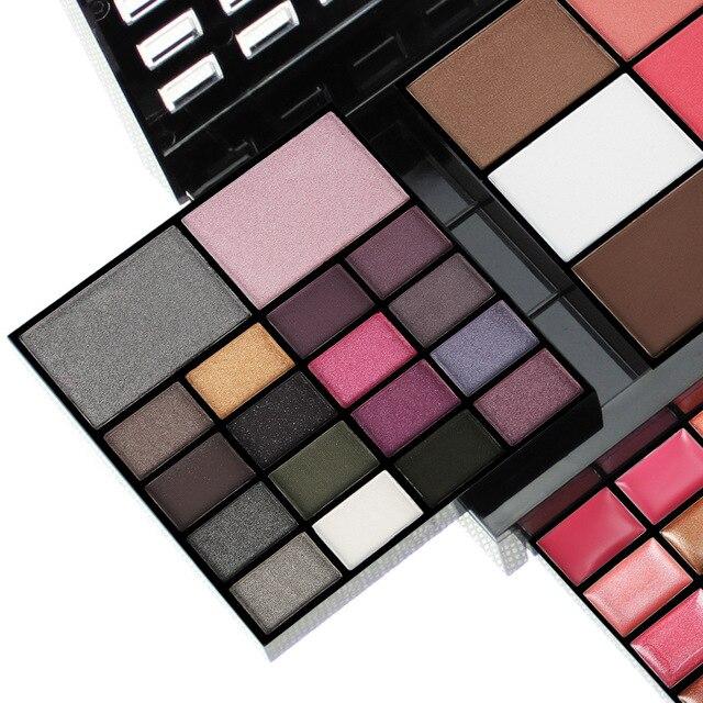 Conjunto de maquillaje para principiantes, caja de maquillaje de 74 colores, Kit de combinación para mujer, sombra de ojos, lápiz labial, brillo de labios, Kits de maquillaje de base de colorete 3