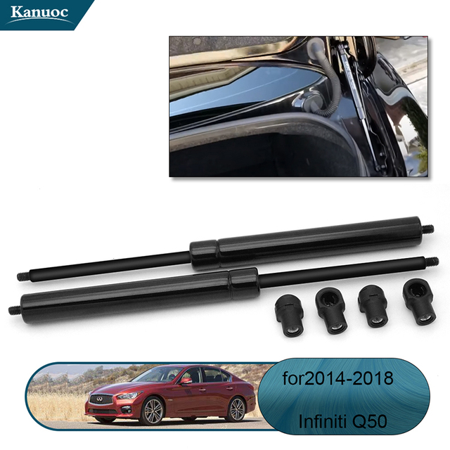 2Pcs Car rear Trunk Lift Supports Struts Shocks Gas Spring Supports Rod For Infiniti Q50 W / O Spoiler 2014 2018 Accessories
