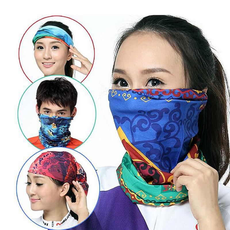 Multi-function Cycling Scarf Outdoor Sport Neck HeadScarf Climbing Hiking Riding Sunshade Dust-proof Scarves Face Mask