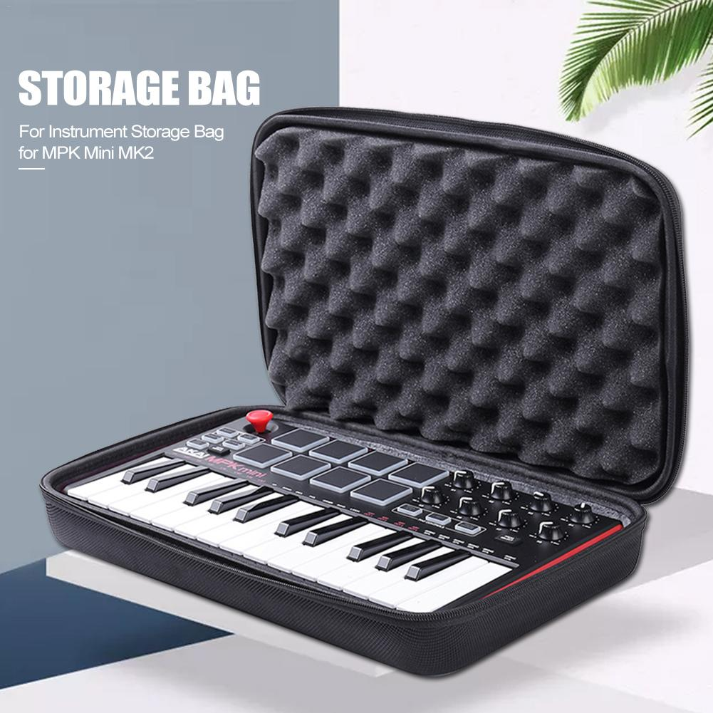 Keyboard Instrument Storage Bag Hard Bag Travel Carrying Protective Bag For Mini Play Akai Professional Fire 25-Button Portable