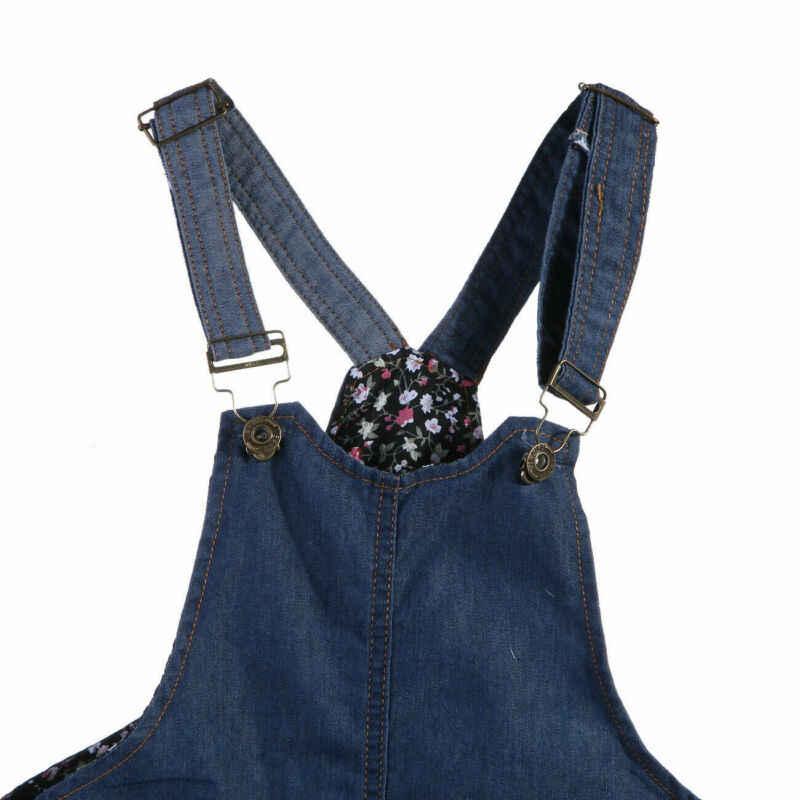 Canis/летнее джинсовое платье на бретелях для маленьких девочек; комбинезон; костюм с короткой юбкой