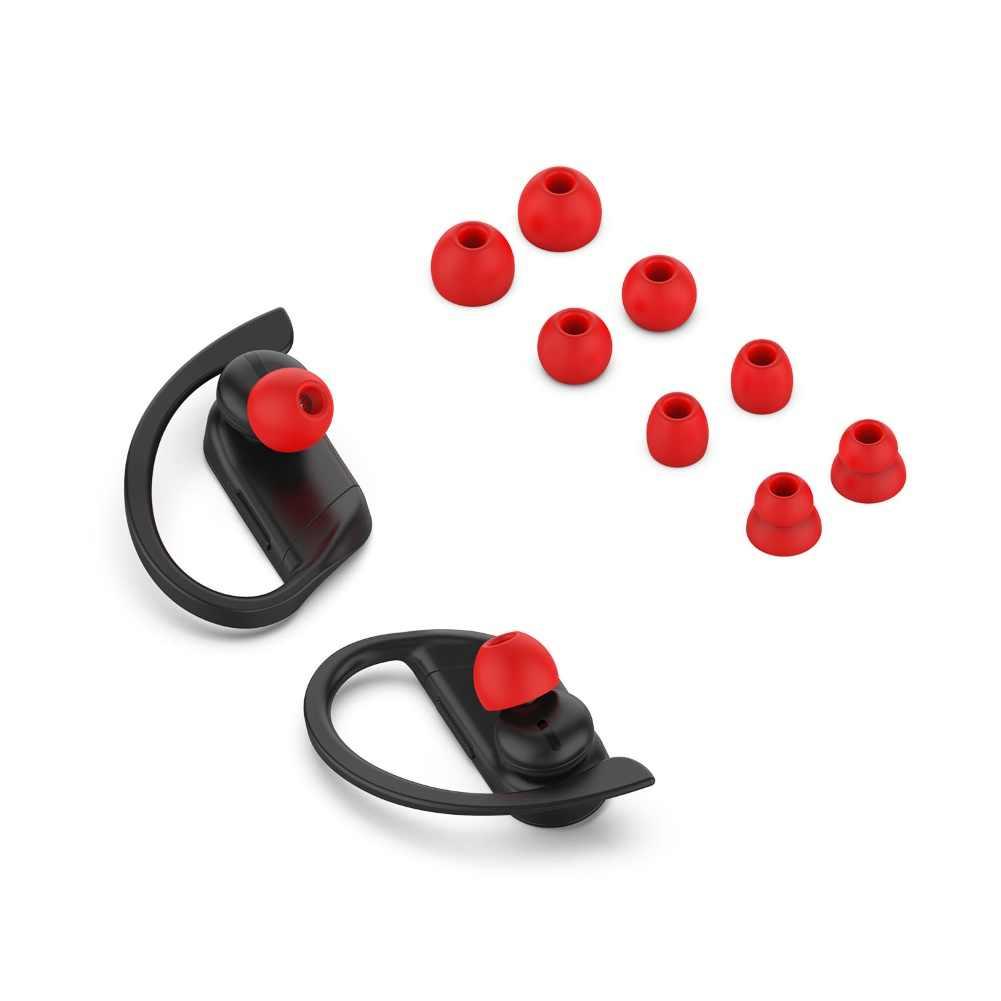 4 أزواج سماعات أذن داخلية مضادة للمياه سماعات أذن مزودة بسماعات أذن من السيليكون ملحقات سماعات أذن لباوربيتس برو/باوربيتs3