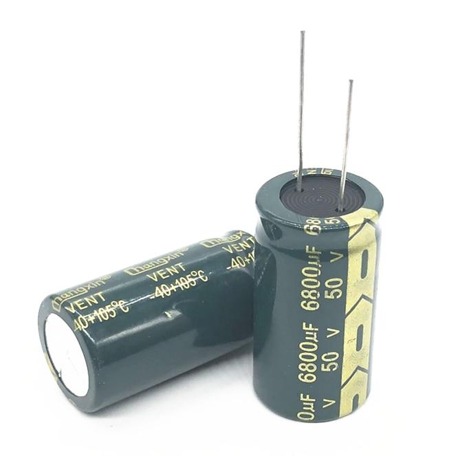 1pcs 10pcs 50V 6800UF 22*40 Aluminum Electrolytic Capacitor 6800uf 50V 20%