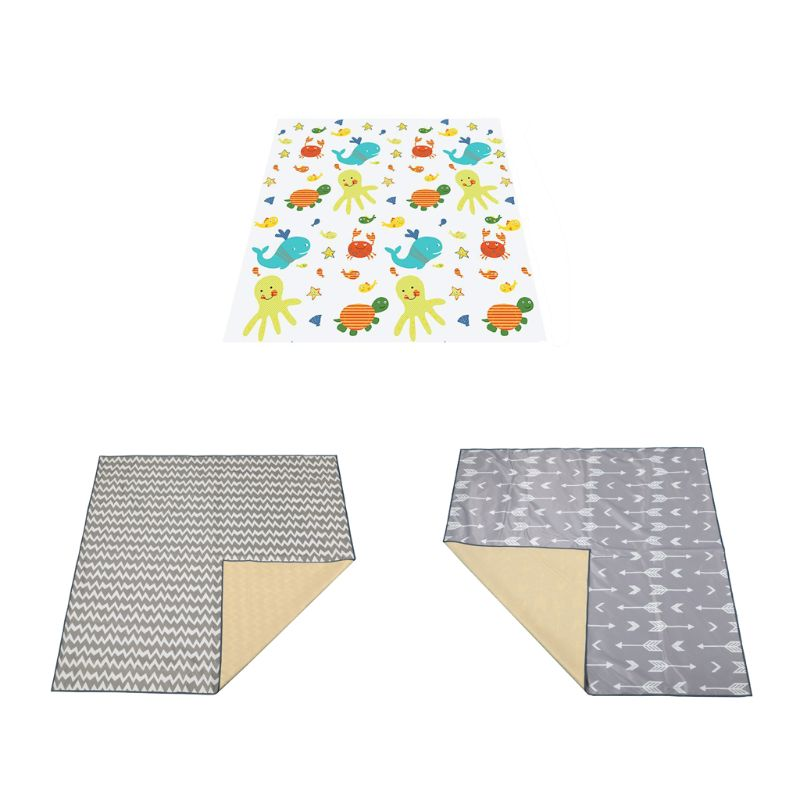 High Chair Splash Mat Floor Protector Non Slip Waterproof Baby Eatting Play Mat 72XC
