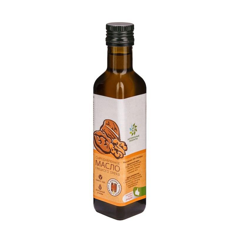 Масло Грецкого ореха Сыродавленное 250 мл