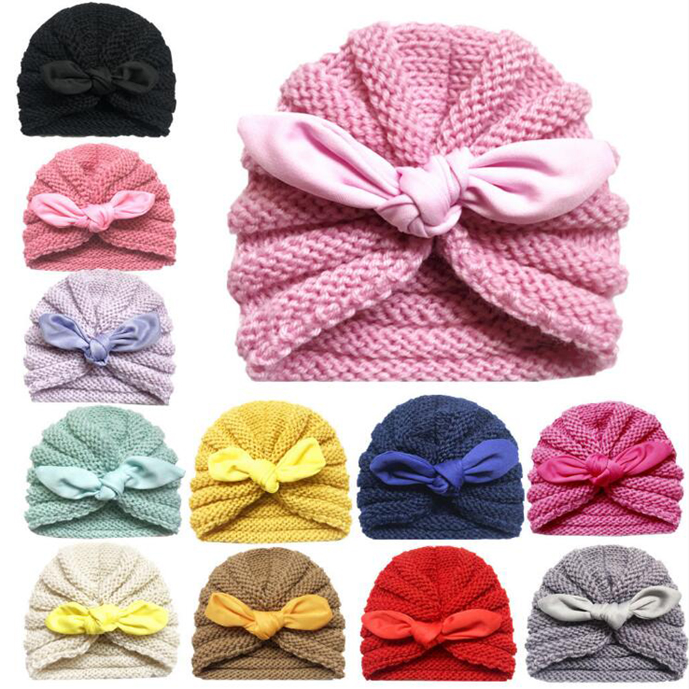 Cute Soft Infant Coming Home Crochet Newborn Baby Hat Beanie Hospital Cap