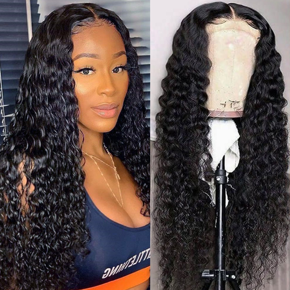 Perruque Lace Front Wig Remy naturelle, Deep Wave, pre plucked, noeuds blanchis, densité 150% 180% |