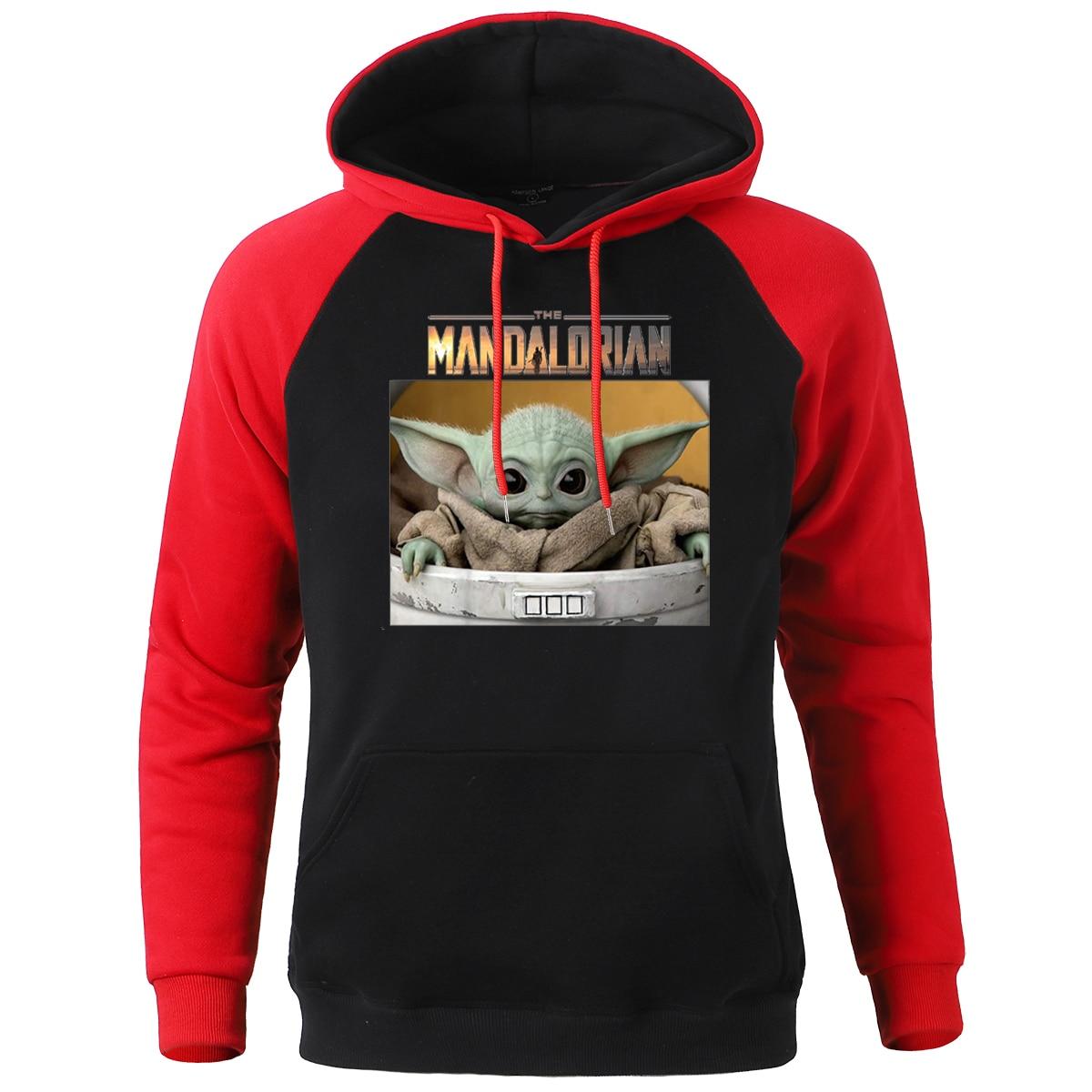 The Mandalorian Child Baby Yoda Cute Hoodies Men Star Wars Hoody Sweatshirt 2020 Spring Autumn Mens Sportswear Streetwear Hoodie