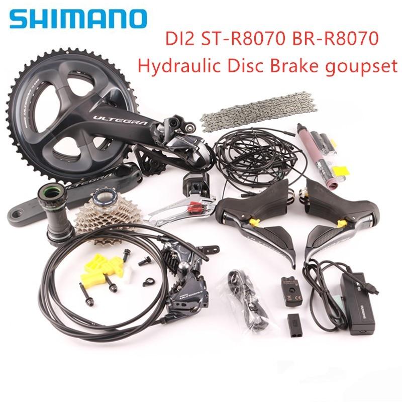 SHIMANO ULTEGRA R8070 Di2 groupe de frein à disque hydraulique vélo de route ST + FD + RD R8050