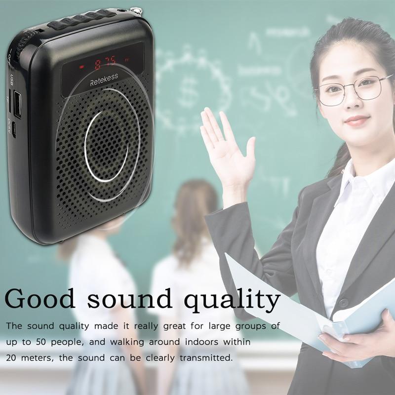 RETEKESS PR16R megafon amplificator vocal portabil profesor microfon - Audio și video portabile - Fotografie 5