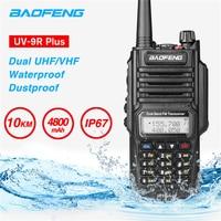 Waterproof Baofeng UV 9R Plus Walkie Talkie 10km Portable CB Ham Radio HF Transceiver UHF VHF Two Way Radio 10W Upgraded uv 9r