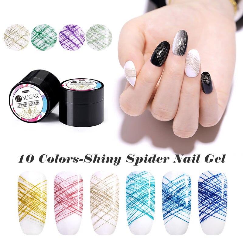 UR SUGAR 7ml Spider Gel Polish Creative Wire Drawing Nail Art Gel Varnish Point To Line Painting Gel Soak OffUV Gel