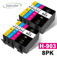 Topcolor 8pk Compatible HP903 HP-903 HP 903XL for HP OfficeJet Pro 6950 6960 6970 All-in-One Printer 903XLBK 903XLC 903XLM Ink hp envy 120 e all in one inkjet printer copier sc