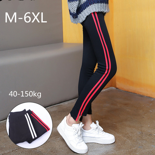 Height Waist Casual Striped Gothic Fitness Legging 2