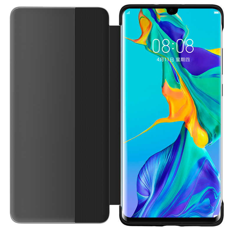 For Huawei P30 Pro Case Original Mirror Smart View Wake Sleep Up Cover Leather Protection Flip Case Huawei P20 P30 Pro Flip Case