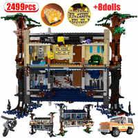 2499 pièces étrange chose étrangère briques arbre maison pour les amis en train de tourner la salle du monde à l'envers blocs jouets pour les enfants