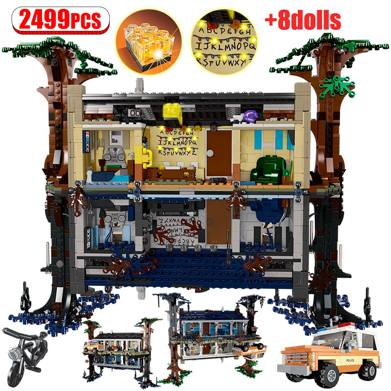 2499pcs Weird Stranger Thing Bricks Tree House For Legoing Friends Turning The World Room Upside Down Blocks Toys For Kids