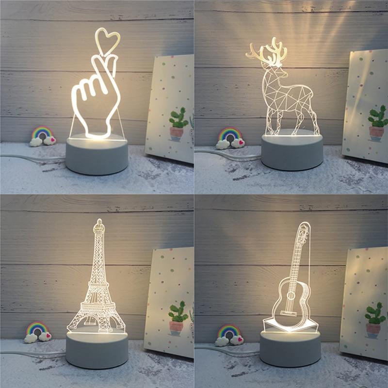 3d lâmpada led criativo 3d led luzes da noite novidade ilusão noite lâmpada 3d ilusão candeeiro de mesa para casa luz decorativa