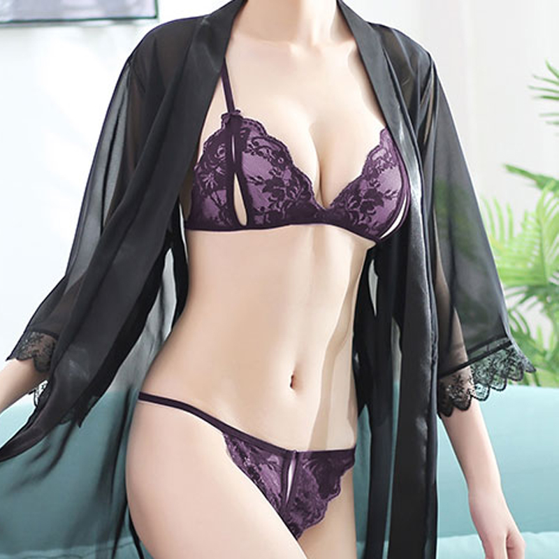 Babydoll Porno Costumes Women Hot Erotic Open Bra Lace Lenceria Transparent Underwear Babydoll Sexy Femme Lingerie Dress For Sex