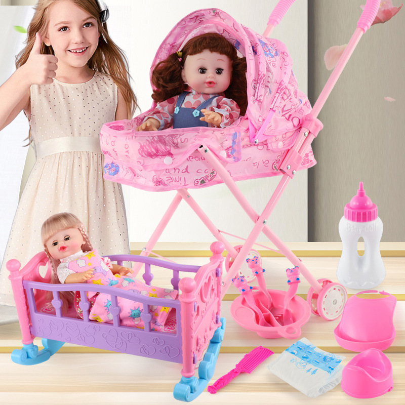 Doll House Accessories Living Room Table Plastic Suitable  30cm Can Be Assembled Trolley/washer Furniture Toys