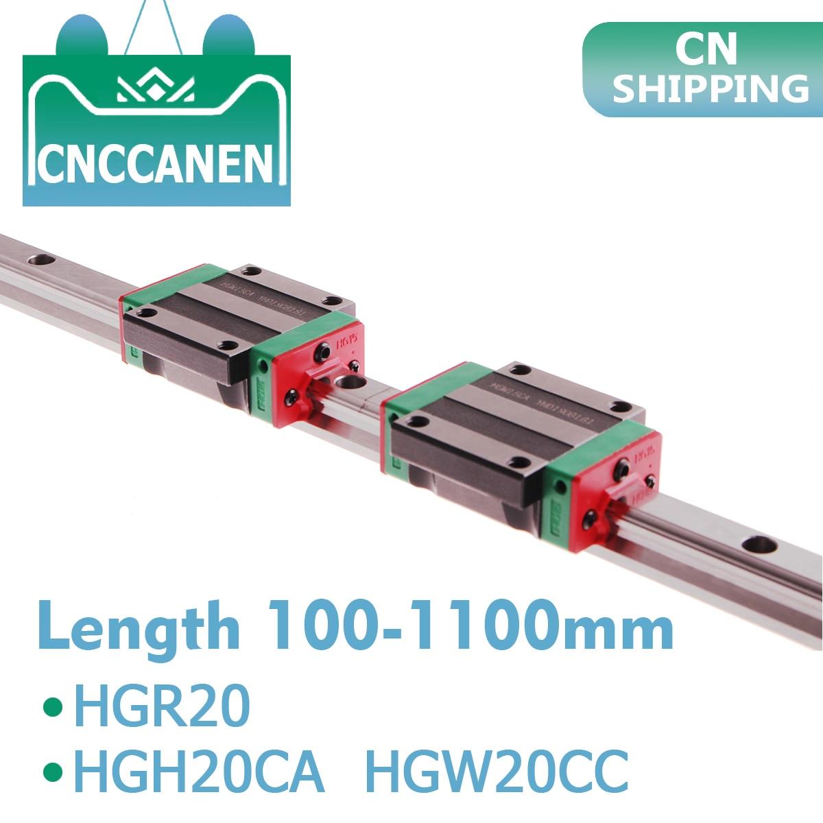 High Precision HGR20 Linear guide rail 6Pcs 12Pcs HGW20 carriages