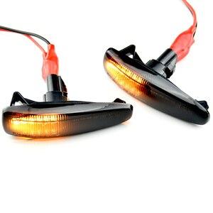 Image 5 - 2 חתיכות דינמי LED צד מרקר הפעל אות אורות 8351A001 עבור Mistubish לנסר EVO X עשן LED הפעל אות אור מחוון