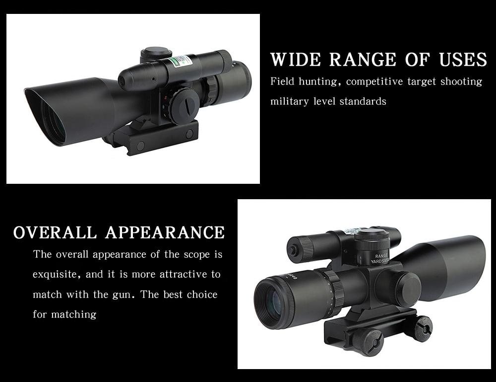 2.5-10x40 óptica red dot scope visão poderoso