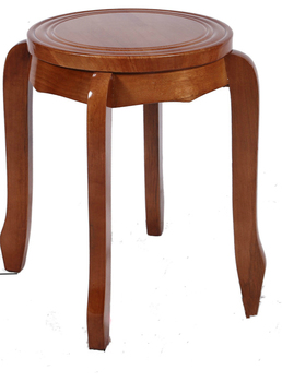 Solid wood stool, fashionable round stool, wooden stool, creative dining table stool, folding home chair, Chinese small dagger,