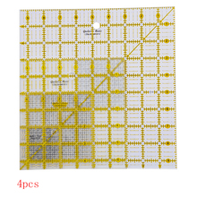 Acrylic Quilters Ruler 2.5, 4.5, 6.5, and 9.5 inch Square Rulers Set of 4 Patchwork Ruler inch (QR 07S ABCD) inch ruler