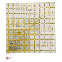 Règles carrées édredons en acrylique 2.5, 4.5, 6.5 et 9.5 pouces (QR 07S ABCD) avec 4 règles en Patchwork