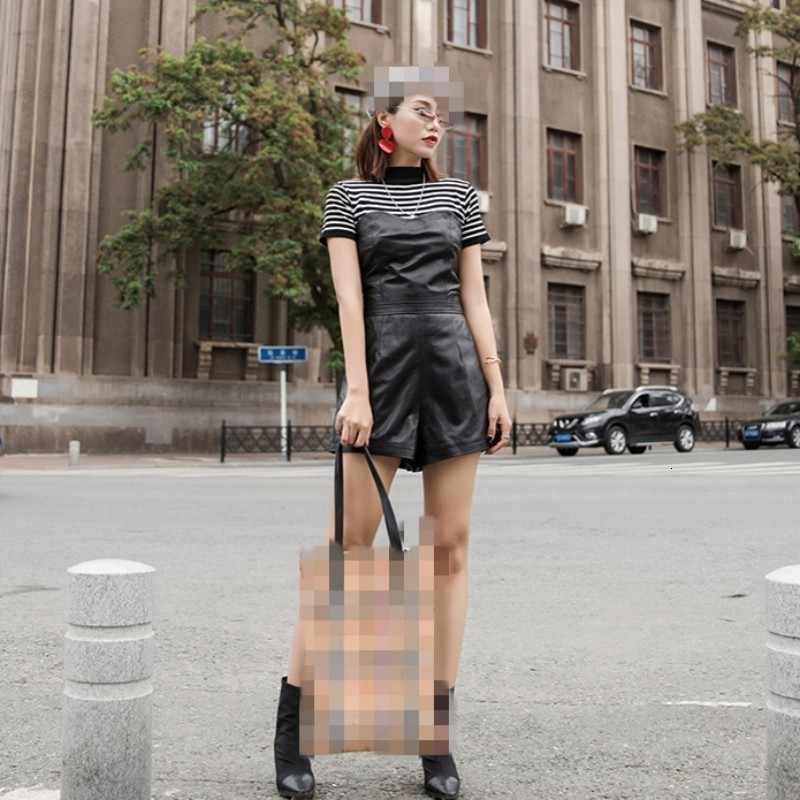 Sonbahar 2020 kış yeni şort deri şort kadın orijinal cilt koyun derisi deri uyluk kadınlar