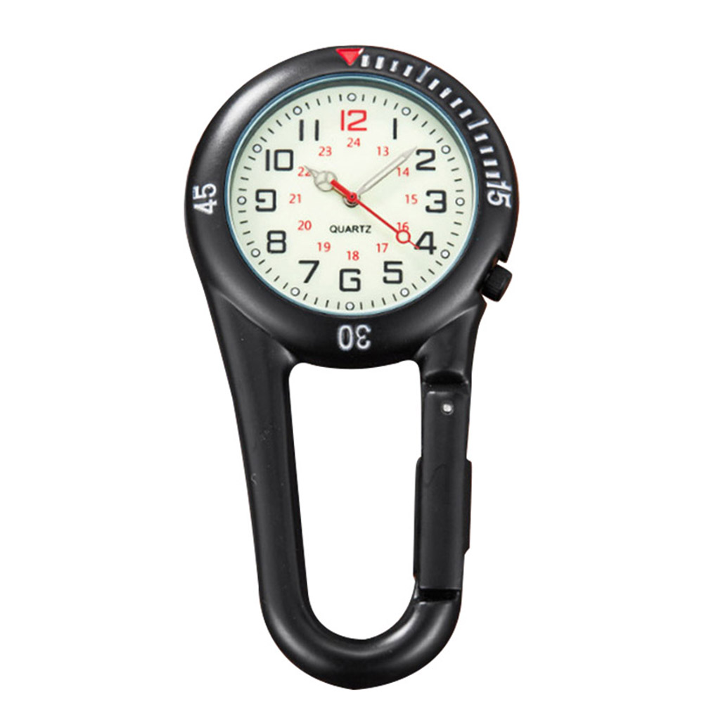 Clip on Carabiner FOB Watch Clock for Hiking Mountaineering Outdoor Backpack TB Sale