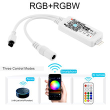DC5-24V Wireless WIFI LED RGB/RGBW Controller RF Remote Control IOS/Android APP Controller For 5050 2835 RGB RGBW LED Strip(China)