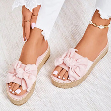 Women Sandals Sweet Bow-knot Platform Sandals 2020 Summer