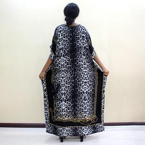 Image 2 - 2019 Fashion Dashiki African Dresses For Women Leopard Print Cotton Dashiki Casual Dresses